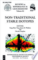 Non Traditional Stable Isotopes