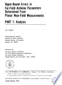 Upper-bound Errors in Far-field Antenna Parameters Determined from Planar Near-field Measurements