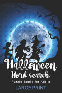 Halloween Word Search Puzzle Books for Adults Large Print