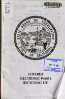 Covered Electronic Waste Recycling Fee Book