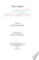 The Works of William Shakespeare  Romeo and Juliet Book