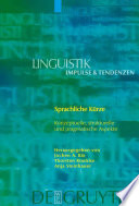 Sprachliche Kürze  : konzeptuelle, strukturelle und pragmatische Aspekte