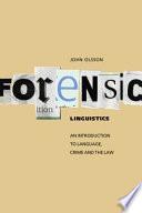 Forensic Linguistics Book PDF