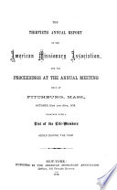 Annual Report of the American Missionary Association