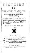 Histoire du théatre françois