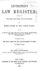 Livingston s Law Register