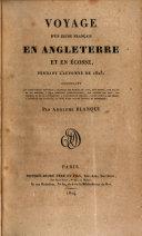Voyage d'un jeune français en Angleterre et en Écosse, pendant l'autonme de 1823