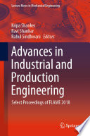 Advances In Industrial And Production Engineering Book PDF