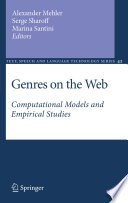 Genres On The Web Book PDF