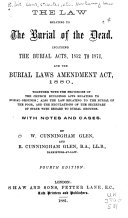 The Law Relating to the Burial of the Dead
