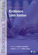 Blackstone's Statutes on Evidence