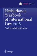 Netherlands Yearbook of International Law 2018