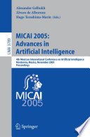 MICAI 2005  Advances in Artificial Intelligence