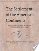 The Settlement of the American Continents Book