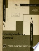 Correspondence Courses Offered by Colleges and Universities Through the United States Armed Forces Institute