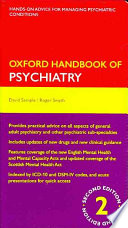 Cover of Oxford Handbook of Psychiatry