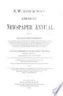 N W Ayer Son S American Newspaper Annual