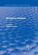 Browning Studies (Routledge Revivals) ebook