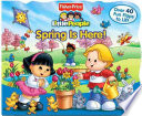 Fisher Price Little People Lift the Flap Book Spring is Here
