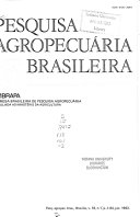 Brazilian journal of agricultural research ebook