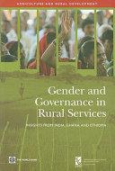 Gender and Governance in Rural Services