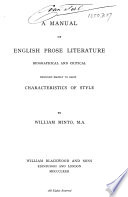 A Manual of English Prose Literature Book