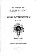 Annual Conclave of Temple Commandery  No  2  K  T