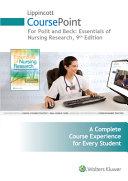 Lippincott Coursepoint for Polit: Essentials of Nursing Research