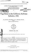 Wage Rates in the California Airframe Industry, 1941