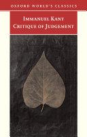 Pdf Critique of Judgement Telecharger