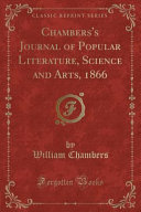 Chambers S Journal Of Popular Literature Science And Arts 1866 Classic Reprint