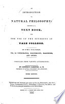 An Introduction to Natural Philosophy Book