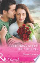Christmas Where They Belong  Mills   Boon Cherish