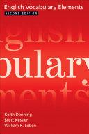 Pdf English Vocabulary Elements Telecharger