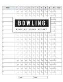 Bowling Score Record