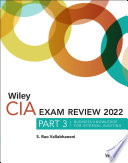 Wiley CIA 2022 Part 3 Exam Review