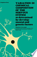 Variation In Chemical Composition Of The Nervous System Book PDF