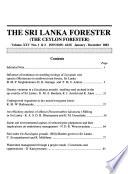 The Sri Lanka Forester