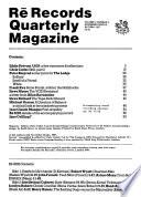 Rē Records Quarterly Magazine