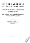 Deliberationes congressus dermatologorum internationalis IX  Budapestini  13 21 Sept   1935