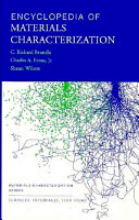 Encyclopedia of Materials Characterization