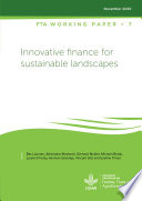 Innovative finance for sustainable landscapes