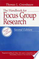 The Handbook For Focus Group Research Book PDF