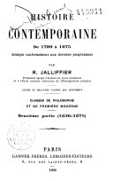 Histoire contemporaine de 1789 à nos jours