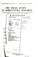 The Israel Journal of Agricultural Research