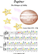 Jupiter the Bringer of Jollity Easy Piano Sheet Music with Colored Notes [Pdf/ePub] eBook
