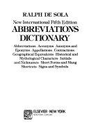 New International Fifth Edition Abbreviation Dictionary