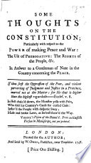 Some Thoughts On The Constitution