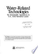 Water related Technologies for Sustainable Agriculture in U S  Arid semiarid Lands
