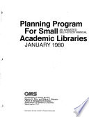 Planning Program for Small Academic Libraries